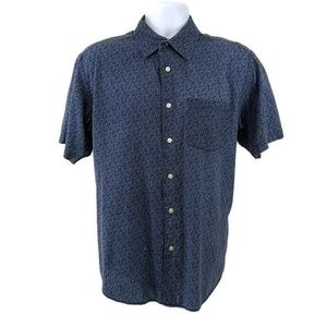 Gap Mens Medium Shirt Blue Button Up Short Sleeve
